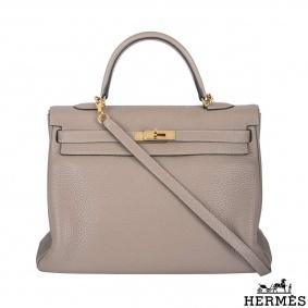 Hermès Gris Tourterelle 35cm Kelly Bag